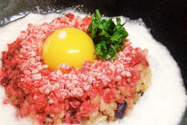 玄米ご飯の牛とろトロロ丼