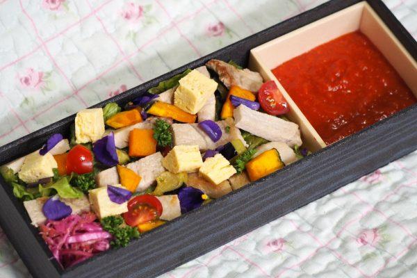 ㉔道産ローストポークと彩り野菜のトマトソース